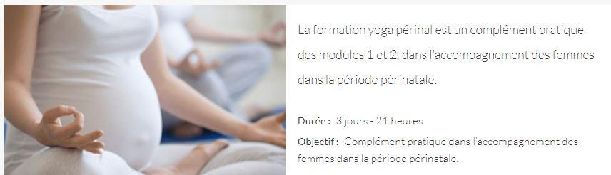 CURSUS LA MERE ET L'ENFANT Formation yoga périnatal