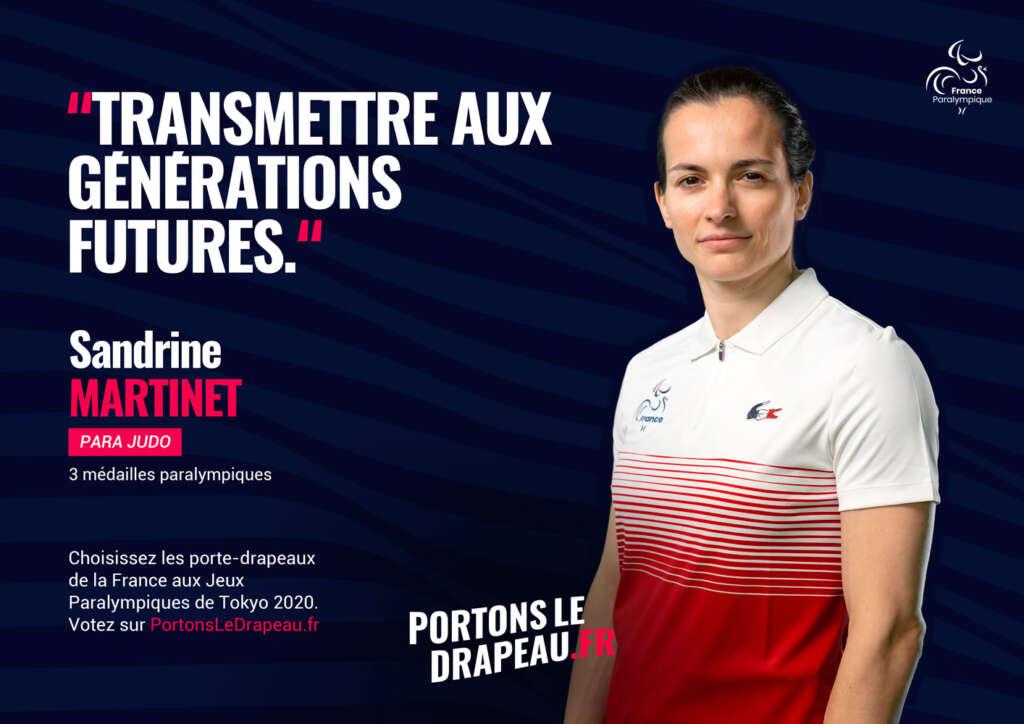 Sandrine Martinet Porte-Drapeaux